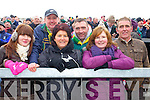 "Elaine O'Donovan, Patsy Herlihy, Eileen O'Donovan, John O""Donovan, Eileen Herlihy and Niall O'Donovan Gneeveguilla fans at the AIB  Intermediate club Football Championship Semi Final at Mallow GAA Grounds on Sunday 30th January 2011."