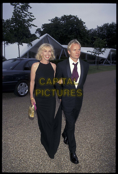 TRUDI STYLER & STING.20 June 2000.Ref: 9802.married, full length, full-length.*RAW SCAN- photo will be adjusted for publication*.www.capitalpictures.com.sales@capitalpictures.com.©Capital Pictures
