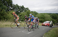 The breakaway group up La Redoute (1650m/9.7%)<br /> <br /> stage 4: Hotel Verviers - La Gileppe (187km)<br /> 29th Ster ZLM Tour 2015