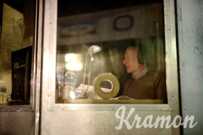 tv-comentator Philippe Maertens at work<br /> <br /> Zilvermeercross 2014