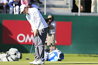 Matthew Fitzpatrick (ENG) birdie putt on the 18th green during Saturday's Round 3 of the 2018 Omega European Masters, held at the Golf Club Crans-Sur-Sierre, Crans Montana, Switzerland. 8th September 2018.<br /> Picture: Eoin Clarke | Golffile<br /> <br /> <br /> All photos usage must carry mandatory copyright credit (&copy; Golffile | Eoin Clarke)