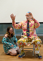 Photo by Randy Litzinger<br /> <br /> The real life Patch Adams whom the 1998 Robin Williams movie &quot;Patch Adams&quot; was based on visited LFCC in Warrenton Thursday afternoon to talk to students considering the medical field about his unique philosophies and methods of treating patients.