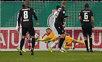 Parade Torwart Marcel Schuhen (SV Darmstadt 98) - 29.10.2019: SV Darmstadt 98 vs. Karlsruher SC, Stadion am Boellenfalltor, 2. Runde DFB-Pokal<br /> DISCLAIMER: <br /> DFL regulations prohibit any use of photographs as image sequences and/or quasi-video.