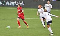 Portland, Oregon - Saturday May 21, 2016: The Portland Thorn's Christine Sinclair (12) versus the Washington Spirit during a regular season NWSL match at Providence Park.