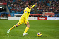 Villarreal´s (Player) during 2014-15 La Liga match between Atletico de Madrid and Villarreal at Vicente Calderon stadium in Madrid, Spain. December 14, 2014. (ALTERPHOTOS/Luis Fernandez) /NortePhoto