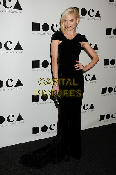 Jaime King.2011 MOCA Gala - An Artist's Life Manifesto held at MOCA Grand Avenue,  Los Angeles, California, USA, .12th November 2011..full length dress hand on hip clutch bag black.CAP/ADM/BP.©Byron Purvis/AdMedia/Capital Pictures.
