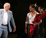 Tim Rice & Ricky Martin.during the Broadway Opening Night Performance Curtain Call for 'EVITA' at the Marquis Theatre in New York City on 4/5/2012