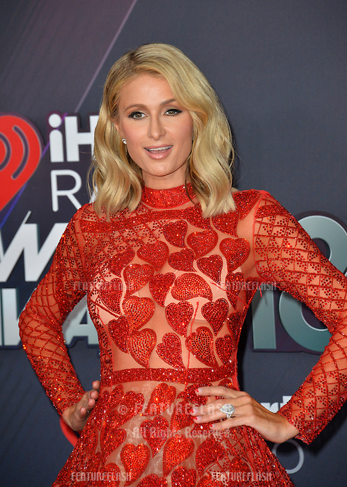 Paris Hilton at the 2018 iHeartRadio Music Awards at The Forum, Los Angeles, USA 11 March 2018<br /> Picture: Paul Smith/Featureflash/SilverHub 0208 004 5359 sales@silverhubmedia.com