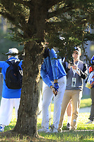 Jake Owen in the rough for his 2nd shot on the 1st hole during Thursday's Round 1 of the 2018 AT&amp;T Pebble Beach Pro-Am, held over 3 courses Pebble Beach, Spyglass Hill and Monterey, California, USA. 8th February 2018.<br /> Picture: Eoin Clarke | Golffile<br /> <br /> <br /> All photos usage must carry mandatory copyright credit (&copy; Golffile | Eoin Clarke)