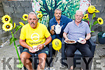 Joe, Mike and Tim Flaherty at their family home in St Johns Park and are holding a coffee fundraising morning this Friday at home from 11am till 1pm for Sightsavers in memory of their late father Joe. .