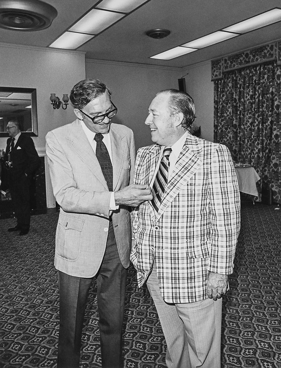 Rep. Charles H. Wilson, D-Calif., with party member. (Photo by CQ Roll Call)