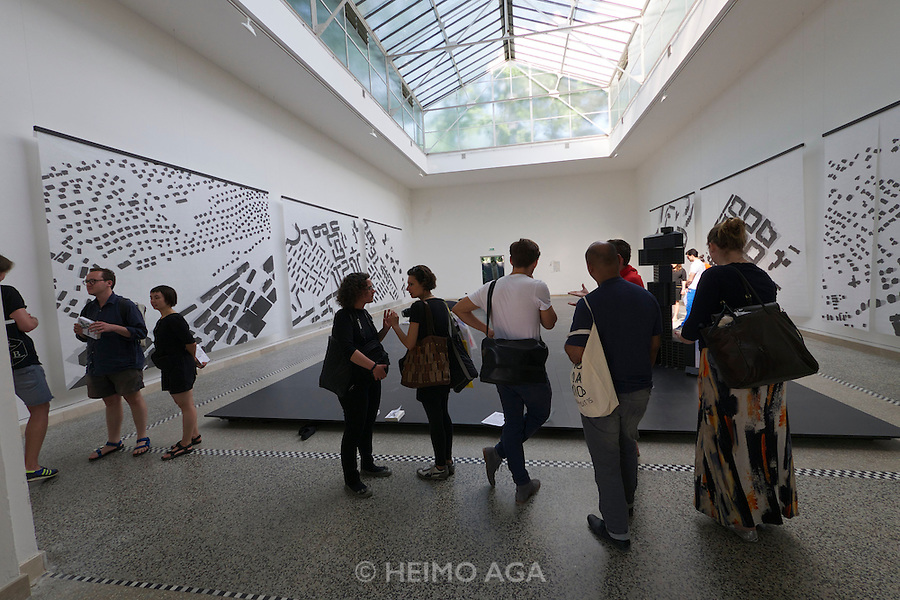 Venice, Italy. 14th Architecture Biennale 2014, &quot;fundamentals&quot;.<br /> Giardini.<br /> Czech Pavillion.<br /> &quot;2x100 Mill.m&sup2;: Collective Dream&quot;