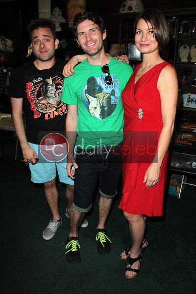 Michael Varrati, Peter Stickles, Rena Riffel<br /> at the Charity Benefit for Reel Grrls and Celeste Yarnall hosted by Etheria and Dark Delicacies, Dark Delicacies, Burbank, CA 02-27-16<br /> David Edwards/Dailyceleb.com 818-249-4998