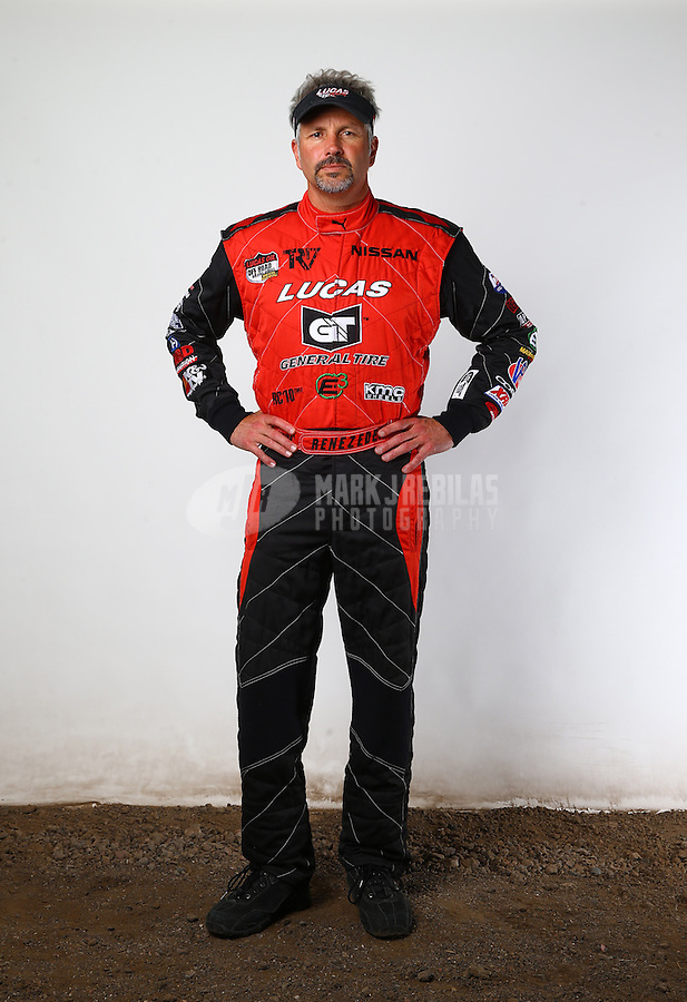 Mar. 21, 2014; Chandler, AZ, USA; LOORRS pro 4 driver Carl Renezeder poses for a portrait prior to round one at Wild Horse Motorsports Park. Mandatory Credit: Mark J. Rebilas-USA TODAY Sports