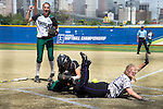 21 MAY 2016:  Madeline Lee (12) of the University of North Alabama slides safely into home against Humboldt State University during the Division II Women's Softball Championship held at the Regency Athletic Complex on the Metro State University campus in Denver, CO.  North Alabama defeated Humboldt State 4-1 to win the national title.  Jamie Schwaberow/NCAA Photos