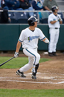 June 22, 2008: The Everett AquaSox's Brandon Fromm at-bat during the team's home opener against the Boise Hawks at Everett Memorial Stadium in Everett, Washington.