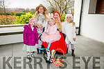 At the  Easter Egg Hunt in aid of Barnardo's Charity at Ballygarry House Hotel on Sunday Pictured with Little Red Riding Hood  having fun with l-r   Laura Prendergast, Mia Leane Holly Leane, Siun O'Connor and Taylor Kate Leane