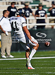 Rice Owls punter Kyle Martens (41) in action during the game between the Rice Owls and the Baylor Bears at the Floyd Casey Stadium in Waco, Texas. Baylor defeats Rice 56 to 31..