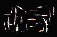 Europe/France/Auverne/63/Puy-de-Dôme/Parc Naturel Régional du Livradois-Forez/Thiers: Le musée des couteliers - Collection de couteaux publicitaires //  France, Puy de Dome, Thiers, the Cutlery Museum ,Collection advertising knives