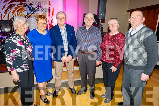Marie McGlynn (Currow), Mary and Michael Murphy (Currow), Pat McGlynn, Mary Kelly (Killarney) and Willie Sullivan (Sneem) dancing the night away in aid of Recovery Haven in the Ballygarry House Hotel on Monday.