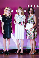 At the center, Gloria Lomana receive the award during the 25th edition of FEDEPE Awards at Jardines de Cecilio Rodriguez in Madrid, Spain. July 26, 2016. (ALTERPHOTOS/BorjaB.Hojas)