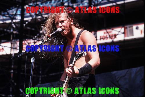 Metallica; Monsters of Rock Tour 1988.Photo Credit: Eddie Malluk/Atlas Icons.com.