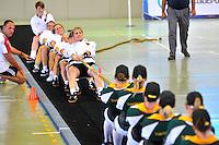 CALI - COLOMBIA - 28-07-2013: Competencia de Batalla de Fuerzas entre Surafrica y Alemania durante los IX Juegos Mundiales Cali, julio 28 de 2013. (Foto: VizzorImage / Cont). Forces Battle Competition between South Africa and Germany during the IX World Games Cali, July 28, 2013. (Photo: VizzorImage / Cont.