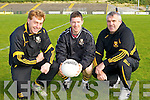 Crokes managers Vince Casey and Noel O'Leary with captain Kieran O'Leary