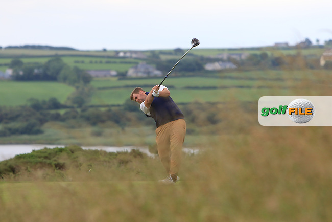 Gary Collins (Rosslare) on the 18th tee during Round 2 of the North of Ireland Amateur Open Championship 2019 at Portstewart Golf Club, Portstewart, Co. Antrim on Tuesday 9th July 2019.<br /> Picture:  Thos Caffrey / Golffile<br /> <br /> All photos usage must carry mandatory copyright credit (© Golffile | Thos Caffrey)