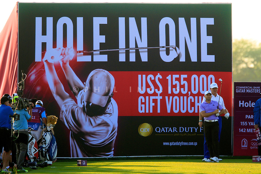 Sergio Garcia (ESP) in action during the final round of the Commercial Bank Qatar Masters played at Doha Golf Club, Doha, Qatar. 21-24 January 2015 (Picture Credit / Phil Inglis)