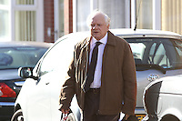 Sir David Jason arrives on set in Doncaster to film a new series of Open All Hours<br />