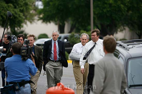 San Angelo - a 14-day hearing at the 51st District (Tom Green County) Courthouse to decide the fate of 416 children removed in a raid from the FLDS Church's YFZ Ranch. Thursday April 17, 2008.  Rod Parker, Jim Bradshaw, Richard Wright, Willie Jessop