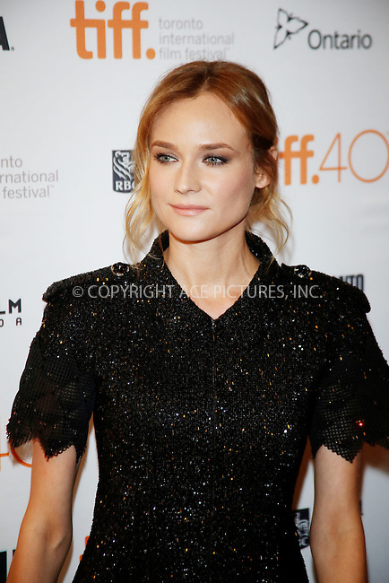 WWW.ACEPIXS.COM<br /> <br /> September 15 2015, Toronto<br /> <br /> Actress Diane Kruger attends the premiere of Sky during the 40th Toronto International Film Festival, TIFF, at the Elgin Theatre on September 15 2015 in Toronto, Canada<br /> <br /> By Line: Famous/ACE Pictures<br /> <br /> <br /> ACE Pictures, Inc.<br /> tel: 646 769 0430<br /> Email: info@acepixs.com<br /> www.acepixs.com