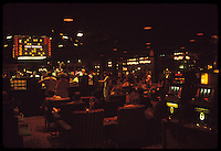 Las Vegas Casino interior shot, The Frontier Hotel & Casino. July 1973