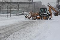 JERSEY CITY, NJ - 09.02.2017 - NEVE-NEW JERSEY - Primeira tempestade de neve de 2017 na cidade de Jersey City em New Jersey nesta quinta-feira, 09. (Foto: Vanessa Carvalho/Brazil Photo Press)