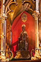 Europe/Europe/France/Midi-Pyrénées/46/Lot/Rocamadour: Vierge  noire dans la  la chapelle Notre-Dame