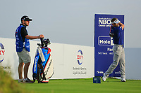 Raphael Jaquelin (FRA) during previews ahead of the first round of the NBO Open played at Al Mouj Golf, Muscat, Sultanate of Oman. <br /> 14/02/2018.<br /> Picture: Golffile | Phil Inglis<br /> <br /> <br /> All photo usage must carry mandatory copyright credit (&copy; Golffile | Phil Inglis)