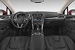 Stock photo of straight dashboard view of a 2015 Ford Mondeo Titanium 5 Door Hatchback Dashboard