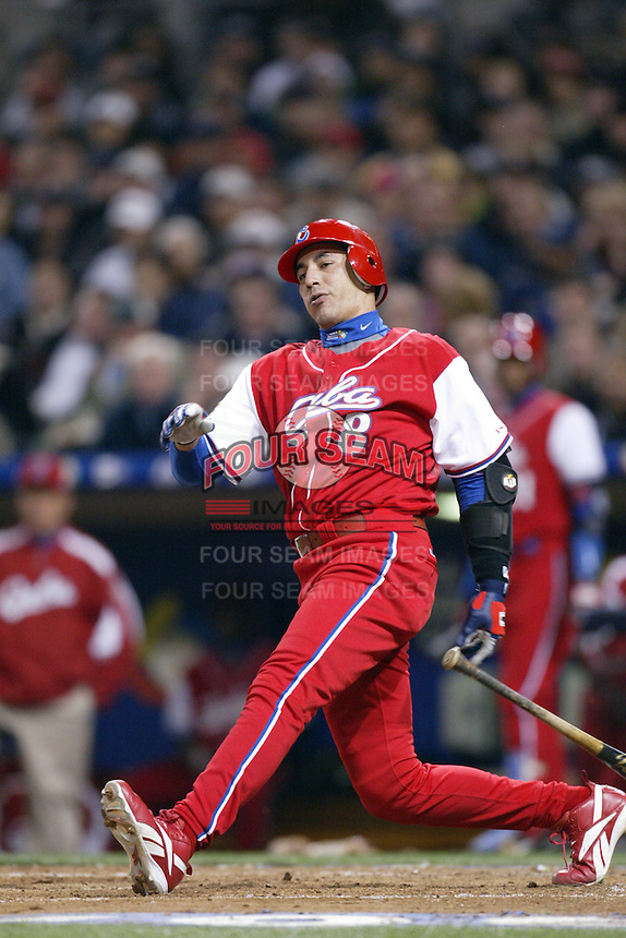Ariel Pestano of the Cuban national team during championship game against Japan during the World Baseball Championships at Petco Park in San Diego,California on March 20, 2006. Photo by Larry Goren/Four Seam Images