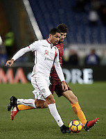 Calcio, Serie A: Roma vs Cagliari, Roma, stadio Olimpico, 22 gennaio 2017.<br /> Cagliari's Marco Borriello, left, in action with Roma's Federico Fazio, right, during the Italian Serie A football match between Roma and Cagliari at Rome's Olympic stadium, 22 January 2017. <br /> UPDATE IMAGES PRESS/Isabella Bonotto