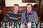 Daniel Kavenagh, from Ventry, with Mary Doyle enjoying Other Voices live streaming at the Benners Hotel, Dingle, over the weekend.