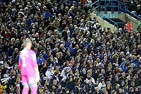 Leeds United fans enjoy the second half action<br /> <br /> Photographer Rich Linley/CameraSport<br /> <br /> The EFL Sky Bet Championship - Tuesday 1st October 2019  - Leeds United v West Bromwich Albion - Elland Road - Leeds<br /> <br /> World Copyright © 2019 CameraSport. All rights reserved. 43 Linden Ave. Countesthorpe. Leicester. England. LE8 5PG - Tel: +44 (0) 116 277 4147 - admin@camerasport.com - www.camerasport.com