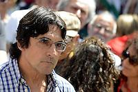 Roma, 20 Maggio 2015<br /> Piero Bernocchi<br /> Protesta in Piazza Montecitorio contro il DDL scuola in discussione e votazione alla Camera