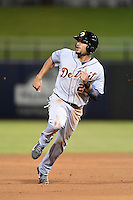 Glendale Desert Dogs outfielder Daniel Fields (22) during an Arizona Fall League game against the Peoria Javelinas on October 14, 2014 at Surprise Stadium in Surprise, Arizona.  Glendale defeated Peoria 9-0.  (Mike Janes/Four Seam Images)