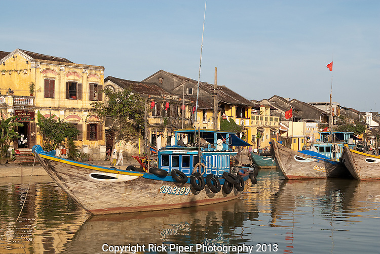 Hoi An Fishing Boats 03 - Fishing boats on the Thu Bon river, Hoi An, Viet Nam