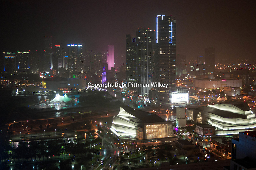Miami skyline at night, Miami, Florida, USA, Oct. 16, 2011. Photo by Debi Pittman Wilkey