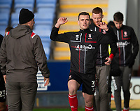 Lincoln City's Harry Toffolo during the pre-match warm-up<br /> <br /> Photographer Andrew Vaughan/CameraSport<br /> <br /> The EFL Sky Bet League One - Shrewsbury Town v Lincoln City - Saturday 11th January 2020 - New Meadow - Shrewsbury<br /> <br /> World Copyright © 2020 CameraSport. All rights reserved. 43 Linden Ave. Countesthorpe. Leicester. England. LE8 5PG - Tel: +44 (0) 116 277 4147 - admin@camerasport.com - www.camerasport.com