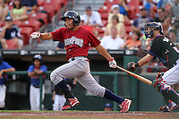 Lehigh Valley IronPigs Melvin Dorta during a game vs. the Buffalo Bisons at Coca-Cola Field in Buffalo, New York;  August 1, 2010.  Buffalo defeated Lehigh Valley 2-1 in 10 innings.  Photo By Mike Janes/Four Seam Images