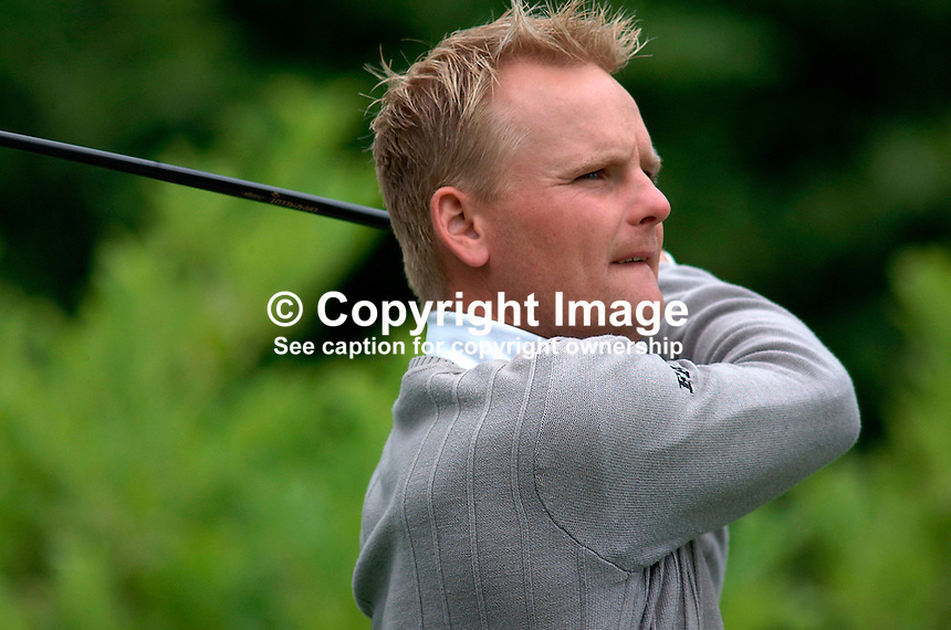 Soren Kjeldsen, professional golfer, Denmark. Picture taken during practice for the Smurfit European Golf Champsionship at the K Club, Co Kildare, Rep of Ireland. Ref: 200207025670...Copyright Image from Victor Patterson, 54 Dorchester Park, Belfast, UK, BT9 6RJ..Tel: +44 28 9066 1296.Mob: +44 7802 353836.Voicemail +44 20 8816 7153.Skype: victorpattersonbelfast.Email: victorpatterson@mac.com.Email: victorpatterson@ireland.com (back-up)..IMPORTANT: If you wish to use this image or any other of my images please go to www.victorpatterson.com and click on the Terms & Conditions. Then contact me by email or phone with the reference number(s) of the image(s) concerned.