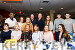Horgan Centra of Ardfert celebrating in winning the store of the year with a party in the Kingdom Greyhound Track on Friday night. Seated l to r: Ranita Osach, Shauna Mackey, Siobhan Hussey, Norrie Horgan and Collette Casey. Standing l to r: David Lakew, Noreen O'Neill, Josephine delaney, Brendan Horgan, Alan Hook, Ella Supple, Denis and Fionan Horgan.